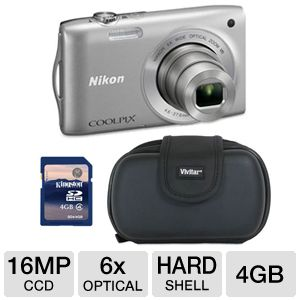 Nikon Coolpix S3300 Digital Camera Bundle
