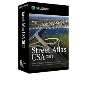 DeLorme Street Atlas USA 2011 Software