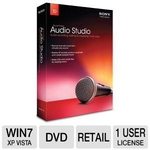 Sony 8083511 Sound Forge Audio Studio 10 Software