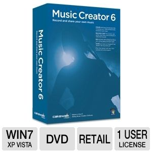Cakewalk Music Creator 6 Software