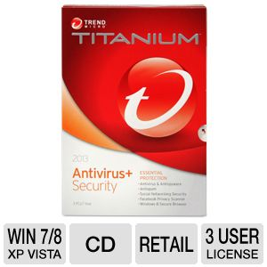 Trend Micro Titanium Antivirus + 2013 Software