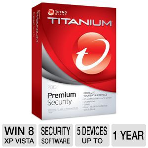 Trend Micro Titanium Premium Security Software 