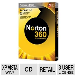 Norton 360 Premiere 5.0 Security Software 