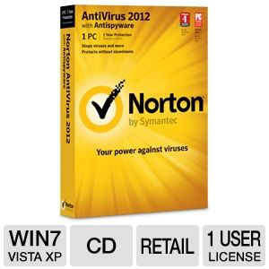 Norton AntiVirus 2012 Software with Anti-Spyware
