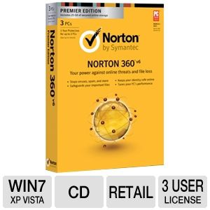 Norton 360 V6 Security Software-Premiere Edition
