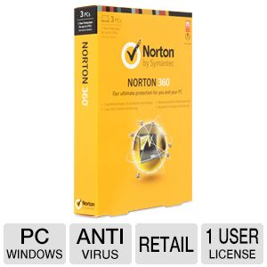 Symantec Norton 360 2013 Antivirus License