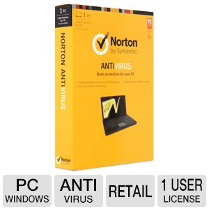 Symantec Norton 2013 1 User Antivirus License