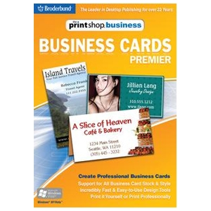 The Print Shop Business - Business Cards Premier