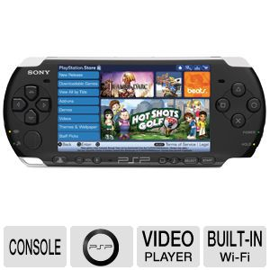 Sony PSP 3000 Black Portable Console Refurbished