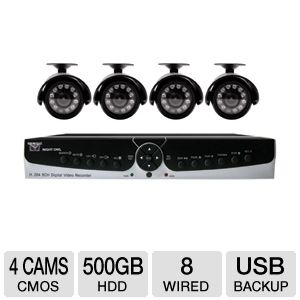 Night Owl 8-CH 500GB Security System REFURB