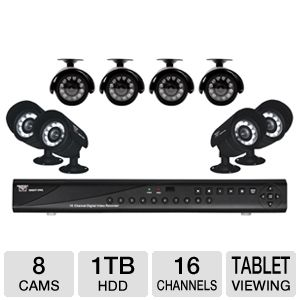 Night Owl  16-CH 1TB  8-Camera Security Kit