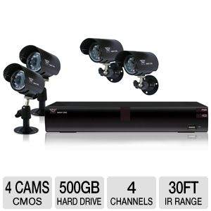 Night Owl O-445 4 Ch, D1, 4 Cam Security System