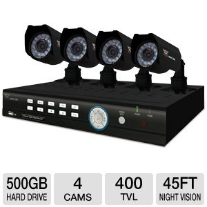 Night Owl 8BL-45GB 4 Channel DVR Kit