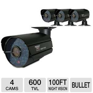 Night Owl 4 Pack 600 TVL Day/Nite Security Cameras