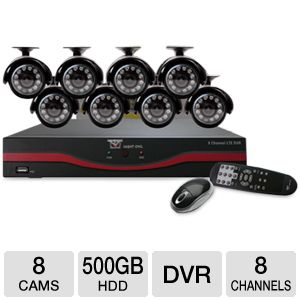 NightOwl 8 Channel DVR Security System w/500GB HDD