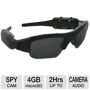 Night Owl Covert Video Sunglasses w/ 4GB MicroSD