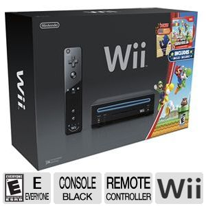 Nintendo Wii Console with Super Mario Wii Game