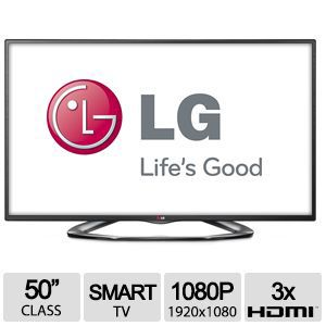 "LG 50"" Class 1080P Cinema 3D Smart TV - 50LA6205"
