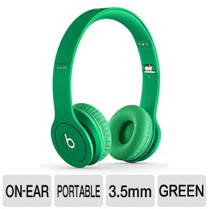 Beats Solo HD Drenched In Color Headphones - Green
