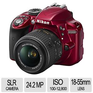 Nikon D3300 SLR Camera With 18-55mm VR II Lens