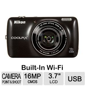 Nikon CoolPix S810c w/Built-In Wi-Fi & GPS - Black