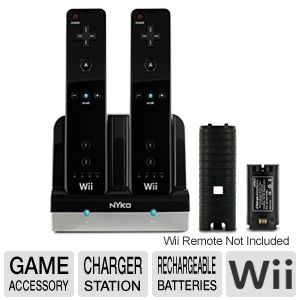 Nyko 87016 Nintendo Wii Charge Station EX - Black
