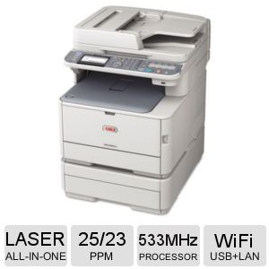 OKI MC362w WiFi Color LED Multifunction Printer