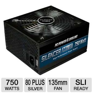 PC Power &amp; Cooling Silencer Mk II 750W PSU 