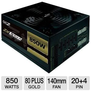 OCZ 850W ZX Series Modular 80Plus Gold PSU