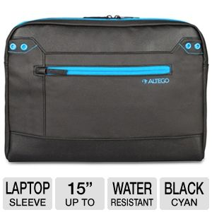 Altego Coated Canvas Cyan Series Laptop Sleeve