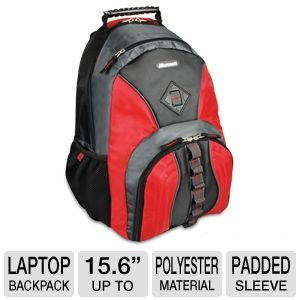 "Samsill 15.6"" Microsoft Laptop Backpack Red"