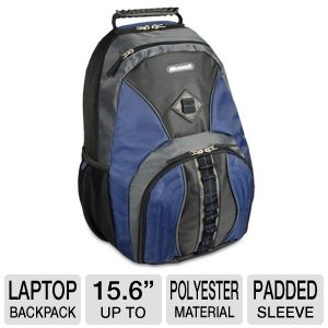 "Samsill 15.6"" Microsoft Laptop Backpack Blue"