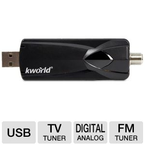 Kworld Dolby AC-3 Audio Cable USB-TV Tunner