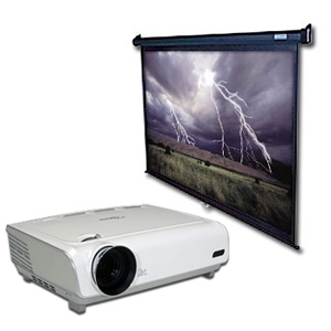 Optoma HD72 DLP Home Theater Projector Bundle