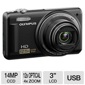 Olympus VR-320 Black 14MP Digital Camera