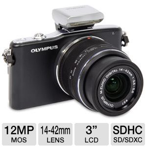 Olympus E-PM1 12MP Digital camera w/ 14-42mm Lens