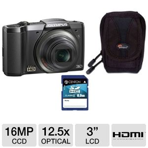 Olympus SZ-20 Full HD Digital Camera  Bundle