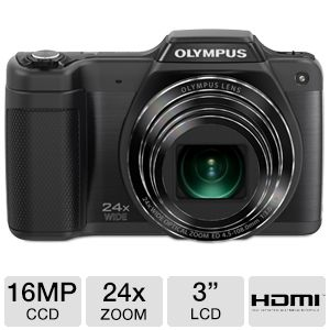Olympus SZ-15 16MP HD Camera in Black