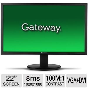 "Gateway KX2153 ABD 22"" Class LED Backlit Monitor"