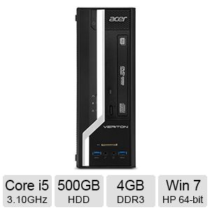 Acer Core i5, 4GB DDR3, Windows 7 Home Premium PC