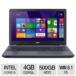 "Acer Aspire 15.6"" HD Core i5 4GB 500GB Notebook"