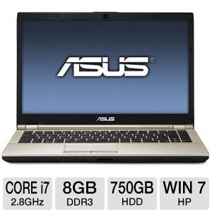 ASUS 14.1&quot; Core i7 750GB HDD Notebook PC