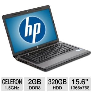 "HP 15.6"" Celeron 320GB HDD Notebook REFURB"