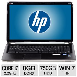 "HP Pavilion dv7 17.3"" Core i7 750GB HDD Notebook"