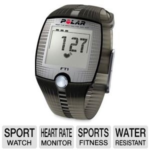 Polar FT1 Water Resistant Time &amp; Heart Watch 