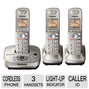 Panasonic KX-TG4023N Cordless Phone with 3 handset