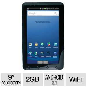 "Pandigital 9"" Android Internet Tablet"