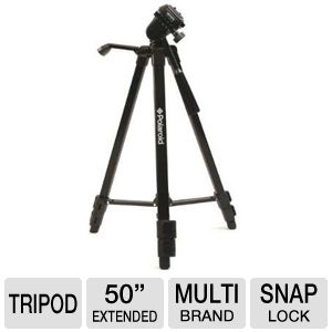 "Polaroid 50"" Black Tripod"