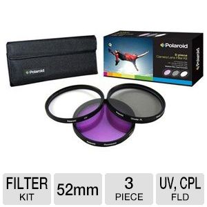 Polaroid 52mm 3-Piece Filter kit