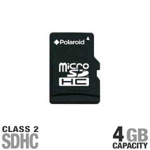 Polaroid microSDHC  Flash Memory Card - 4GB